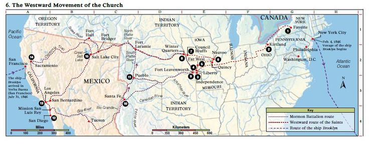 Map of LDS Church History Sites