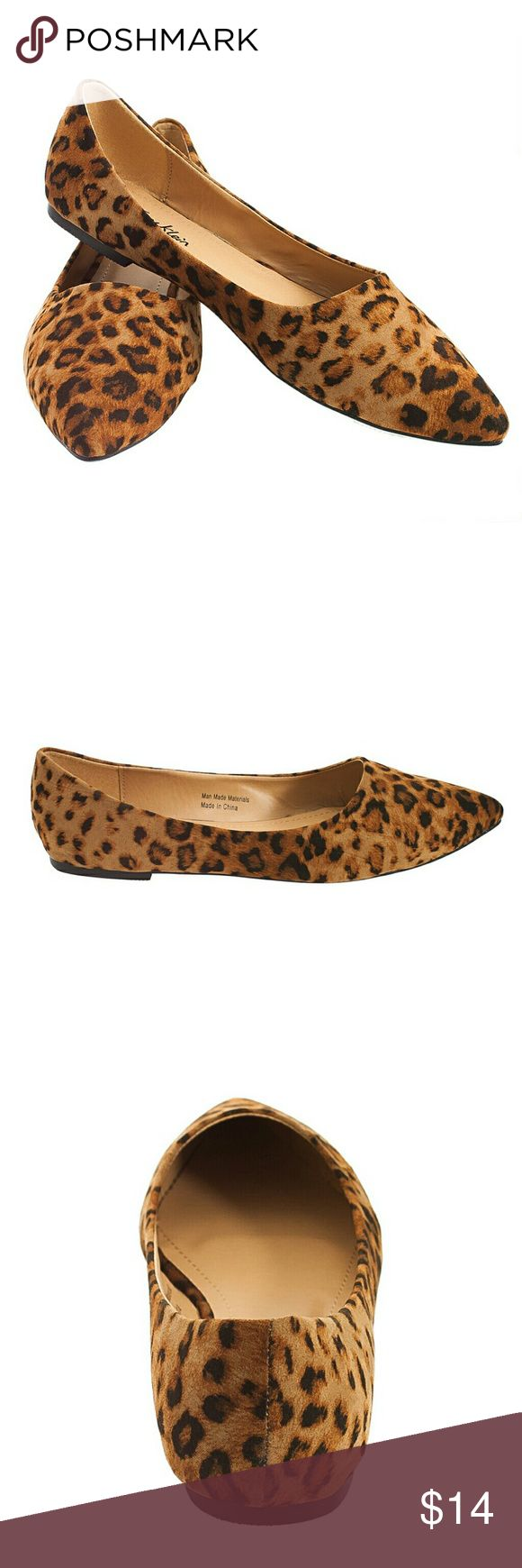 """Tory K Leopard Flats, b-1350, Dark Brown Brand new Tory K dark leopard pointy toe woman ballerina flats. Comfortable padded sole. Ribbed bottom sole for extra traction. A true statement in ladies shoes fashion! Measurements: larger sizes run small. Size 8 measures 9.5"""", sz 8.5 - 9 3/4"""", sz 9 - 10"""", sz 9.5 - 10 1/4"""", sz 10 - 10.5"""", all half sizes are in 1/4"""" increments of each other. Tory K  Shoes Flats & Loafers"""