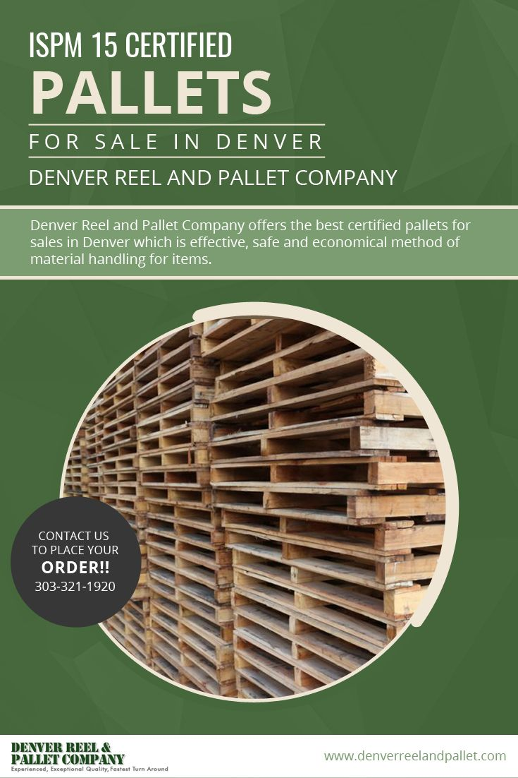 Denver Reel and Pallet Company offers the best certified #pallets_for_sales_in_Denver which is effective, safe and economical method of material handling for items.