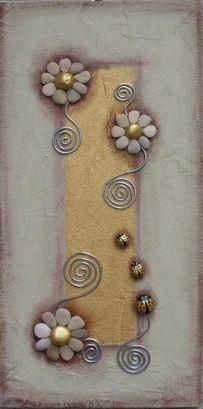 panel with decorative stones