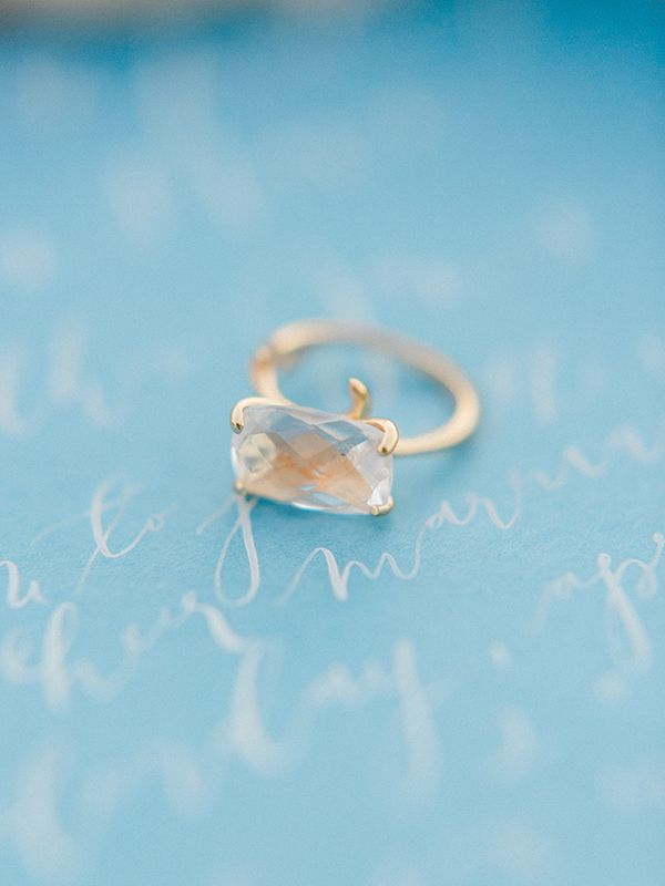 nike experience run  wide Raw Gemstone Ring Luna de Mare Photography Glam Beach Bride