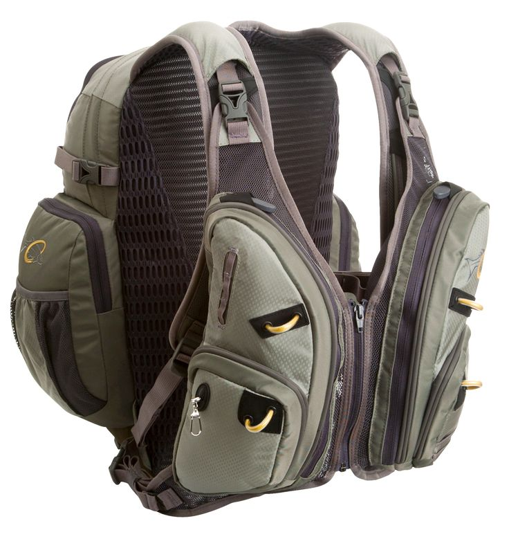 """William Joseph   Exodus // This """"Vestpack"""" was designed for anglers, why hasn't anyone made something like this for survivalists? // I'd like to see this in Multicam or ATACs FG with QD buckles across the chest and admin pockets in the front"""