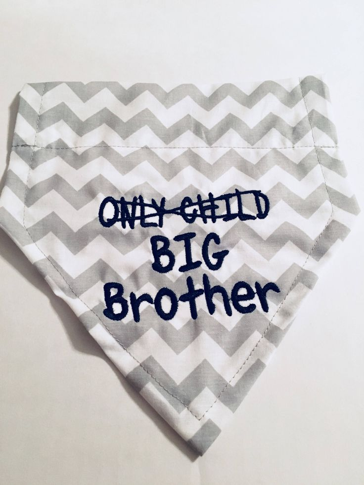 Excited to share the latest addition to my #etsy shop: Pregnancy Announcement, Only Child, Big Brother, Dog Bandana, Over the Collar, New Baby, Reveal Announcement, Dog Lover Gift, Shower Gift