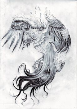 It's another Phoenix tattoo made for an arm. It is for Cover Up and old tattoo