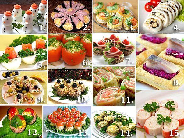 15 ЛУЧШИХ ЗАКУСОК НА НОВОГОДНИЙ СТОЛДля вас дорогие хозяюшки! Рецепты оригинальных закусок для праздничного стола на ваш выбор. 1. НОВОГОДНЯЯ ЗАКУСКА ИЗ ЯИЦ «СНЕГОВИК»Вам потребуется:6 больших яиц(для…