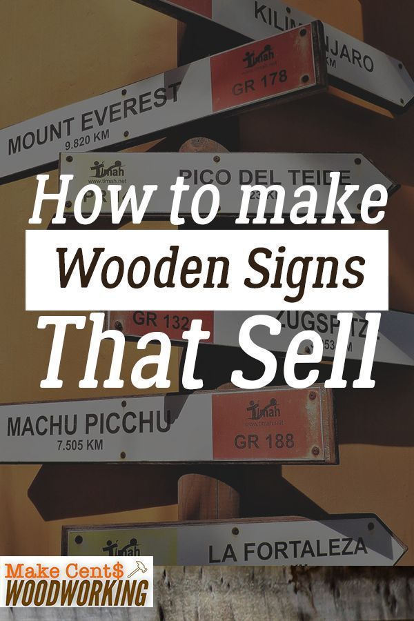 How to Make Wooden Signs That Sell