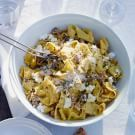 Try the Fresh Pappardelle with Sausage, Fennel and Ricotta Recipe on williams-sonoma.com/