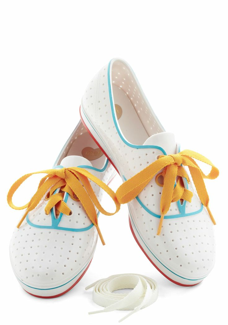 We'll Have a Wiffle Ball Sneaker - Flat, White, Multi, Lace Up, Casual, Beach/Resort, Vintage Inspired, 80s
