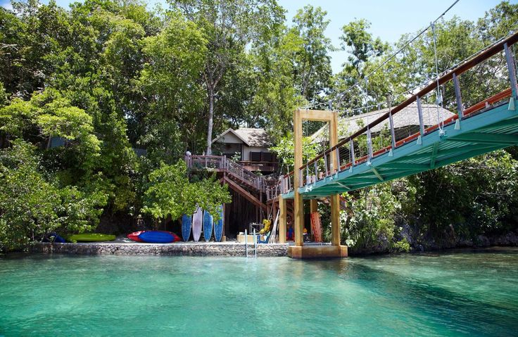 GoldenEye Oracabessa, Caribbean Grounds Luxury Outdoor Activities Resort Romantic Tropical Waterfront tree outdoor water leisure Boat amusement park Water park swimming pool River park Lake bridge swimming surrounded