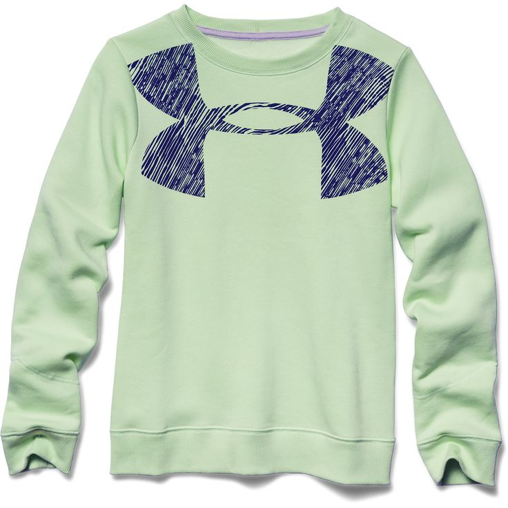 Under Armour Girl's Rival Graphic Crew (Minty) - Goal Kick Soccer - 1