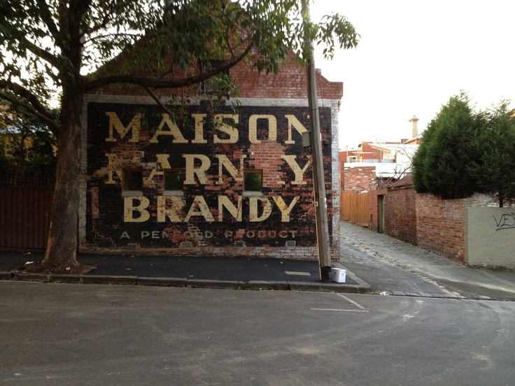 Penfolds Maison Marnay Brandy. Canning Street, North Melbourne.