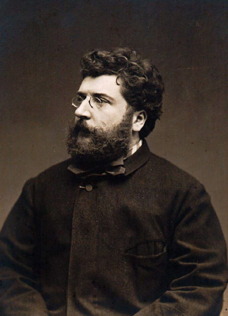 Georges Bizet.  Romantic music, Epic beard.
