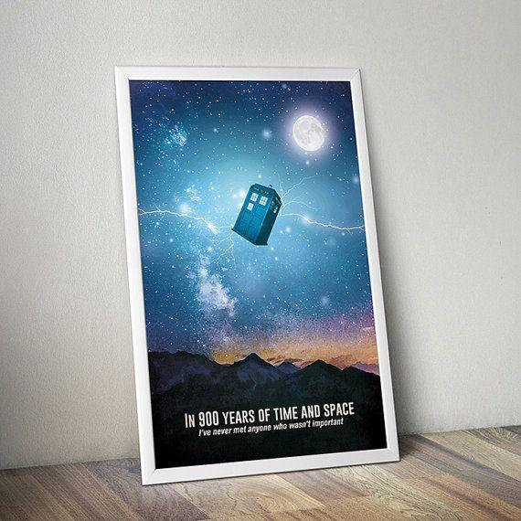 Doctor Who affiche Tardis affiche Doctor Who affiche alternative espace Dr qui affiche science-fiction affiche citation poster
