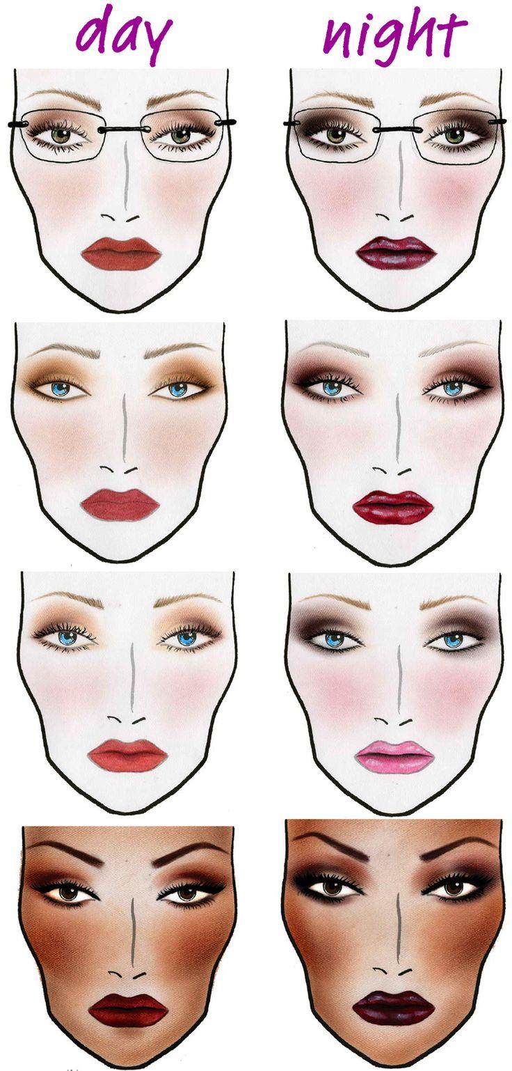 dag en avond makeup