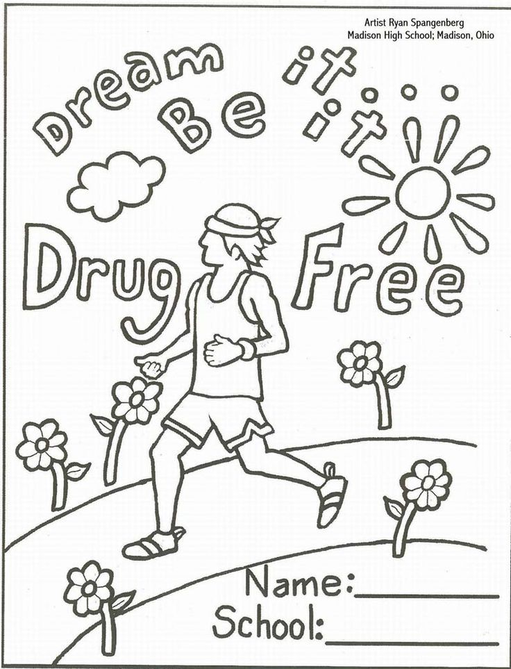 anti drug coloring pages printable - photo#14
