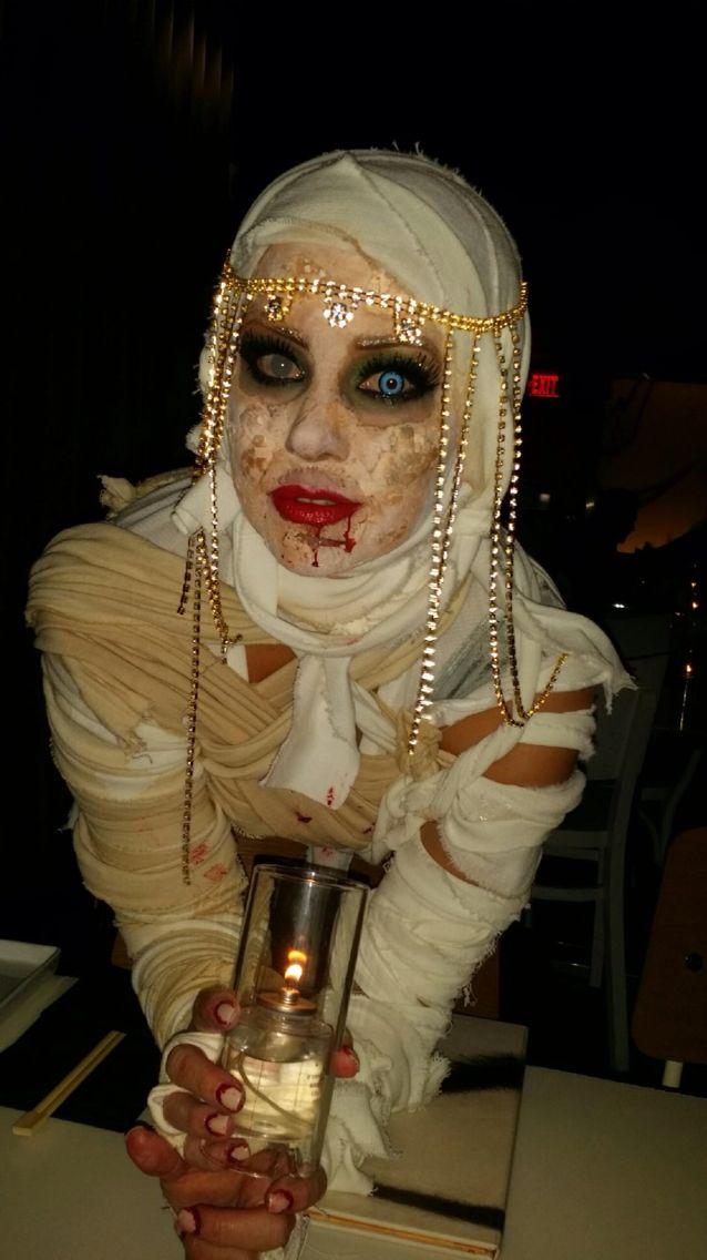 Cleopatra Mummy costume...zombie makeup.