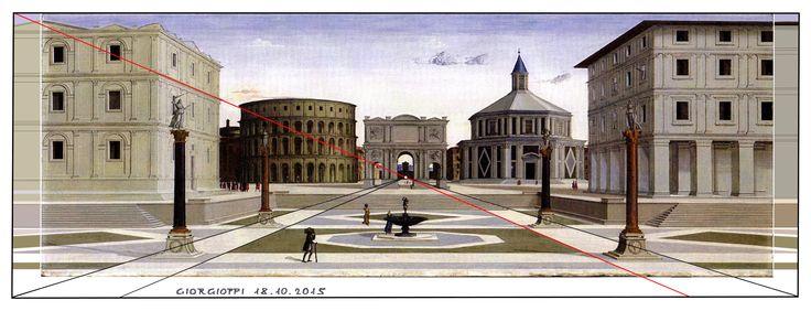 Ricostruzione della Città Ideale di Baltimora, Luciano Laurana, 1470-1472.