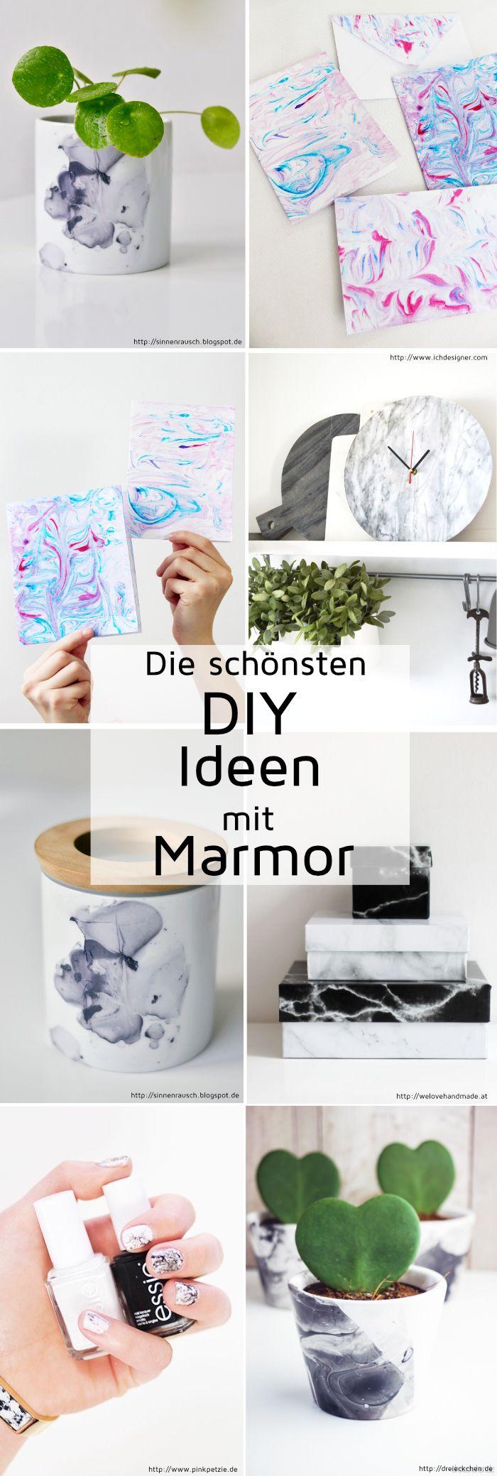 DIY Ideen mit Marmor: Die schönsten Marmoriertechniken Selbermachen