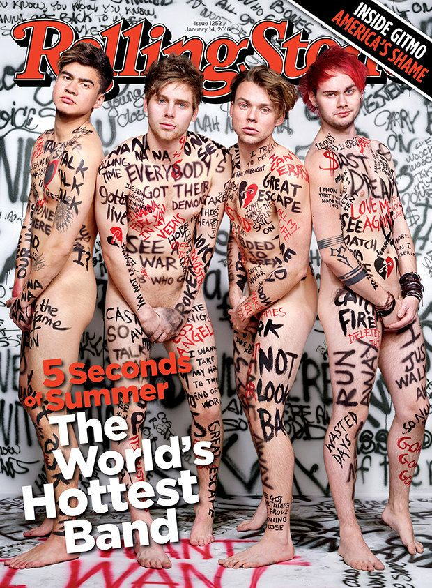 5 Seconds Of Summer Are Naked On The New Issue Of Rolling Stone - BuzzFeed News