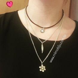 Lindo colar trio dourado, super estilo e  a moda,  aproveite!