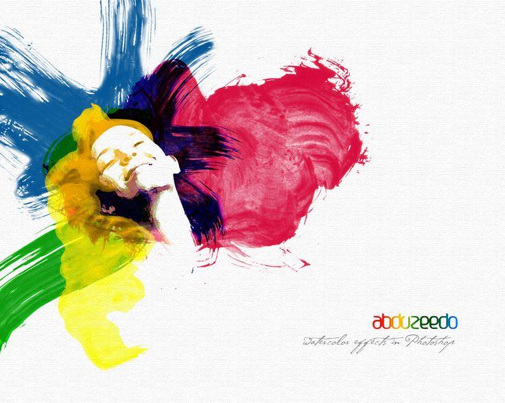 Watercolor Effect in Photoshop - Wallpaper | Abduzeedo Design Inspiration & Tutorials