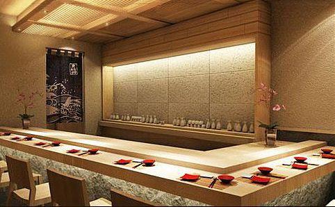 Minimalist Interior Sushi Counter