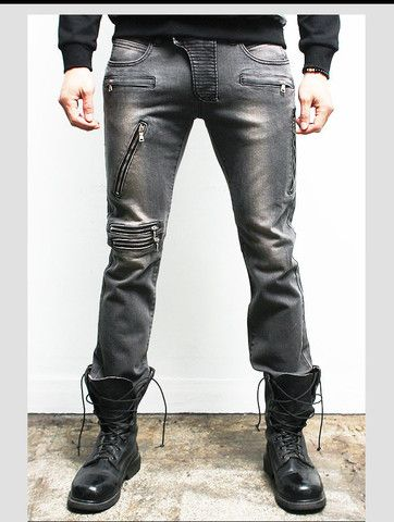 "Men's ""Warp"" Biker Skinny Jeans – Tattee Boy Clothes"