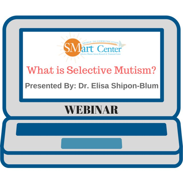 What is Selective Mutism?:A guide to helping parents, educators, and treatment professionals understand selective mutism as a social communication anxiety disorder  Presented By: Dr. Elisa Shipon-Blum  This webinar describes Selective Mutism (SM) as a social communication anxiety disorder, its diagnostic criteria and its relation to Social Anxiety, etiology, and presenting symptoms. Also presented are sensory challenges that