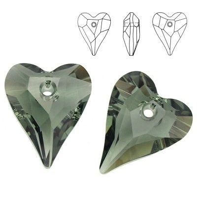 6240 Wild Heart 12mm Black Diamond  Dimensions: 12,0 mm Colour: Black Diamond 1 package = 1 piece