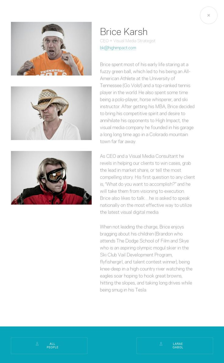 High Impact website #agency
