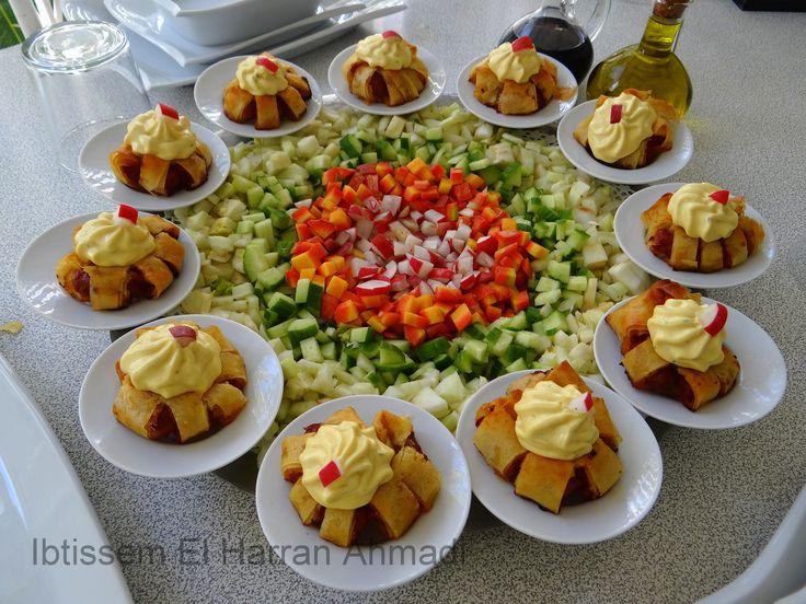 Salade crudit s aux merguez fenouils carottes radis for Salade en entree originale