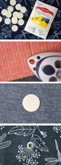 Anleitung für die Snaply Wonder Dots! Nie mehr ausgerissende Ösen und Druckknöpfe. Einfach aufbügeln