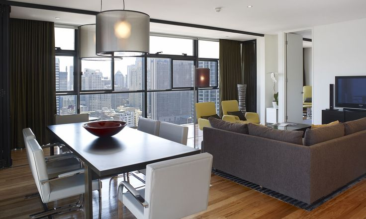 Fraser Suites #Sydney #suites #luxe #servicedapartments #cityliving #interiors #modern #architecture #ptwarchitects