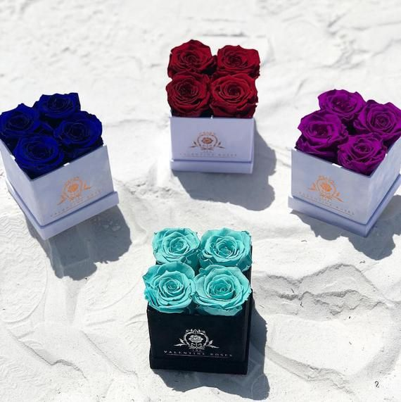 One Year Roses Real Preserved Roses Gifts For Her Forever Roses 4 Small Box Of Roses Roses Box Eternity Rose Enchanted Roses Rose Gift Preserved Roses Forever Rose