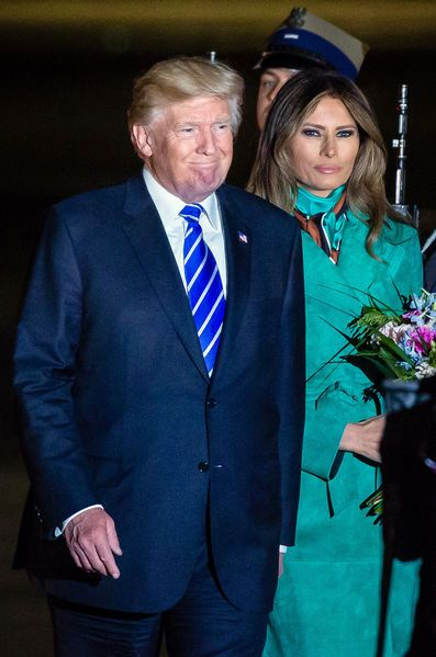Donald Trump Melania Trump Pologne 17