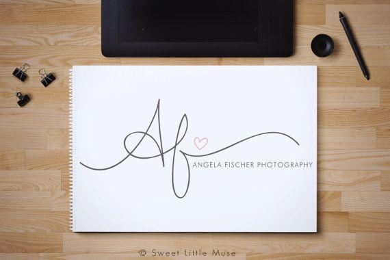 Custom hand written initials logo - custom logo design - OOAK logo