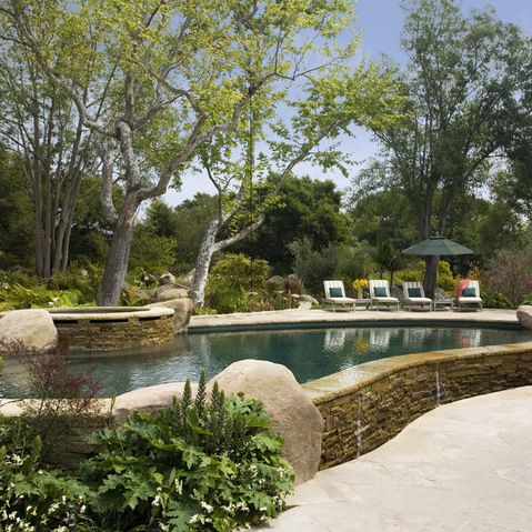 pool and backyard design ideas with 458241330808320246 on Front Yard Landscaping likewise Viking Fiberglass Inground Swimming Pool Lighting furthermore Symphony as well Outdoor Living Areas Fire Pits Walkways besides Top 20 Pergola Designs.