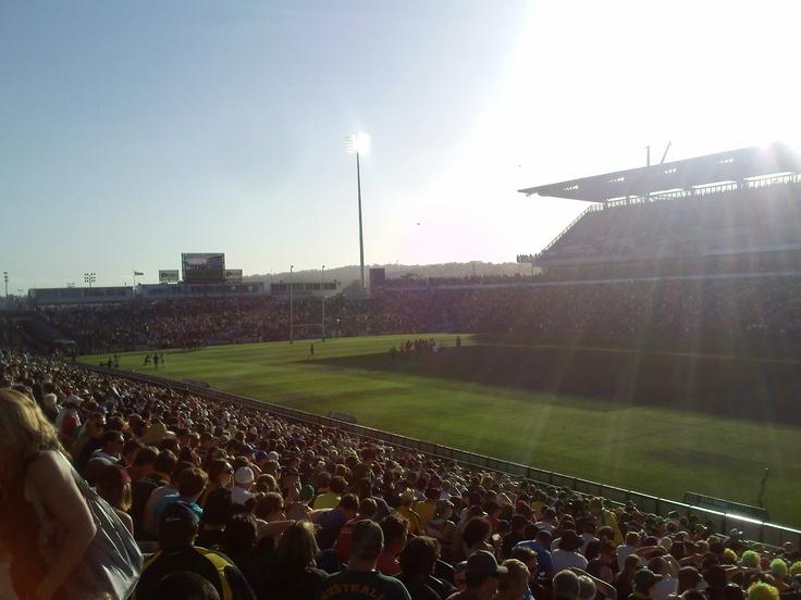 Darren Lockyer's last Test on Australian soil.   Packed house at Hunter Stadium in Newcastle, NSW on the 17th October 2011.  Australia defeat New Zealand 42-6.