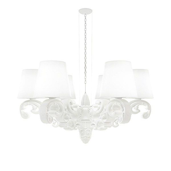 """Crown of Love Chandelier (White) Crown of Love Chandelier (White) Pairs great with other """"of Love"""" furniture items. This Crown of Love Chandelier is a stunning pendant part of the original range of the Design of Love Collection by Italian band Slide. #poundr #home #decor #fancy #homedecor #luxxdesign #MadeInItaly #spoilyourself #light #lamp  #whitelight  #ambiance #bestgiftever #favoritethings #white"""