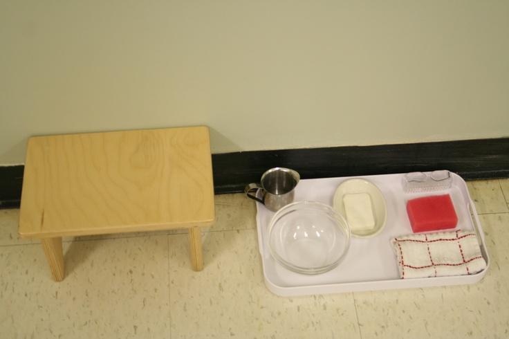Table Scrubbing Activity Montessori Pinterest