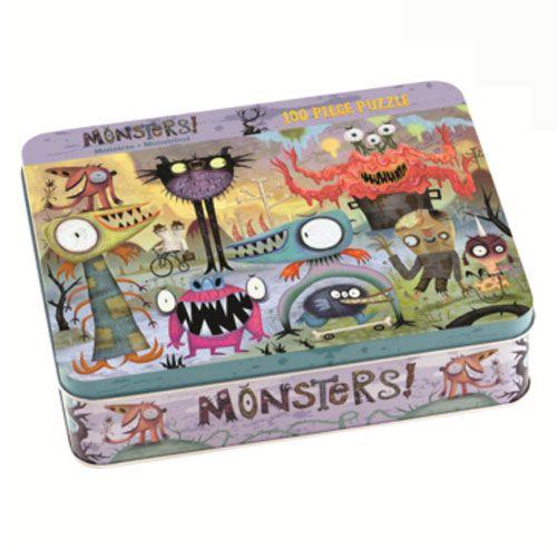 #Mudpuppy 100 Piece #Puzzle -- #Monsters