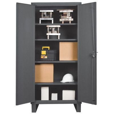 "Durham Manufacturing Recessed Door Style Lockable Storage Cabinet Size: 78"" H x 36"" W x 24"" D"