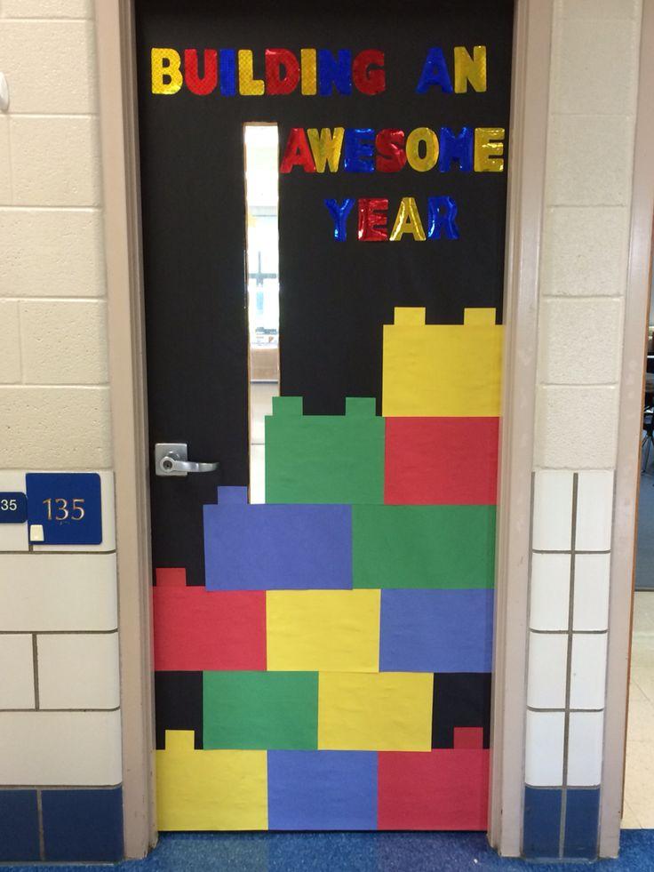 Lego theme classroom door