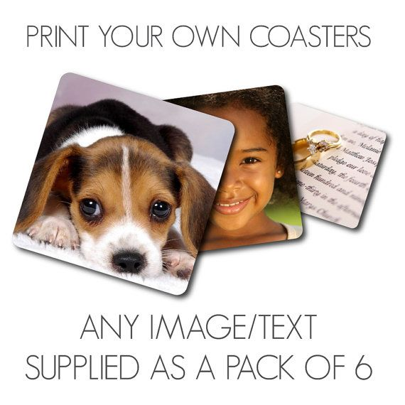 Personalised Coasters  Any Photo/s or Just Text by LookNFindLtd