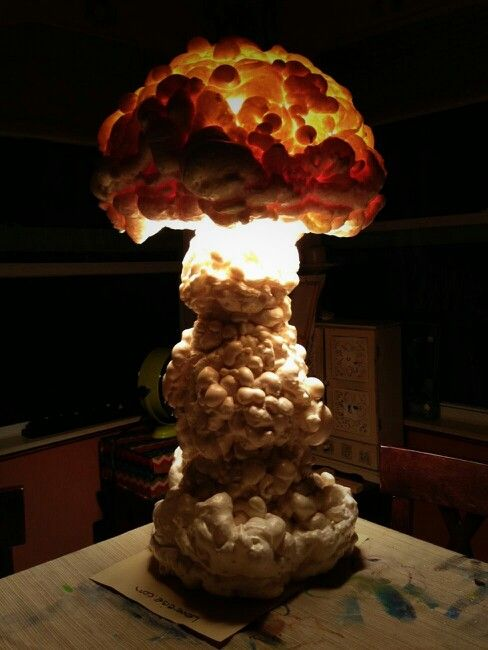 Atomic bomb 3d history fair project one sacificed lamp a large