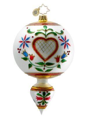 Radko Drop: Hearts a la Fleur Personalized Radko Ornament