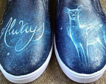 """Harry Potter """"Always"""" painted shoes"""