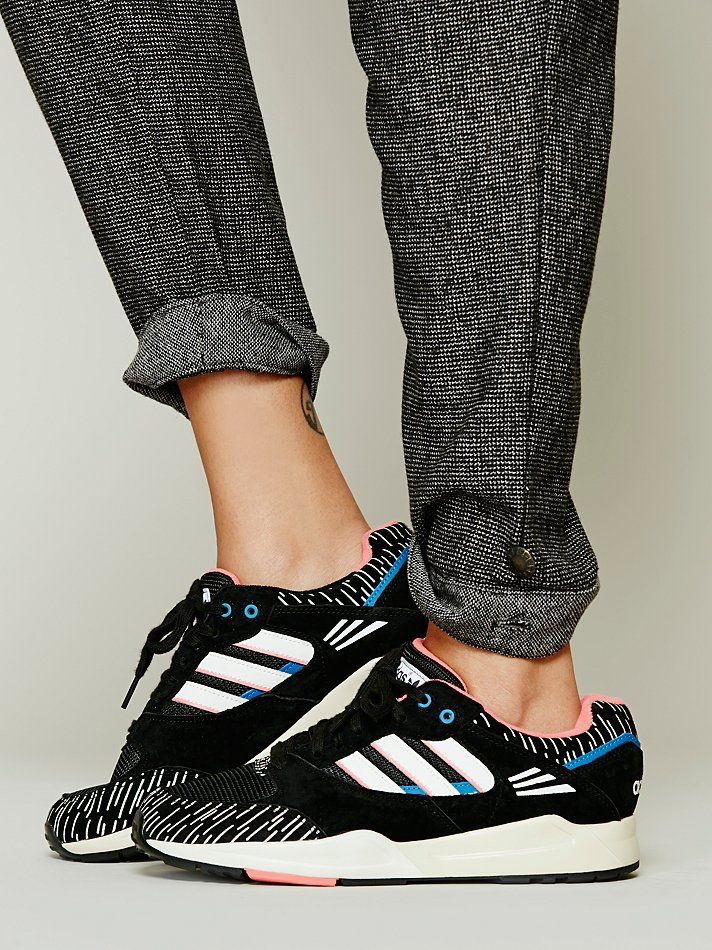 """On trend in black and white Addidas """"designer"""" sneaks. Almost conservative. I said almost. keatonrow.com/nannsense"""
