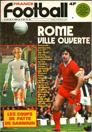 France Football magazine in April 1977 featuring the upcoming European Cup Final on the cover.