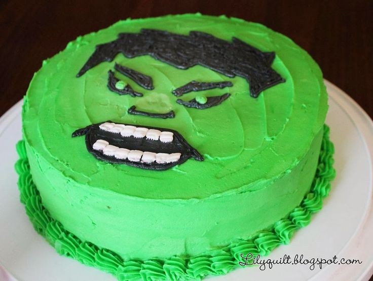 homemade hulk cake - Google Search